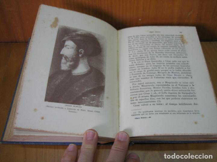 Libros antiguos: Los Borgia. Cesar Borgia 1945 - Foto 9 - 122994735