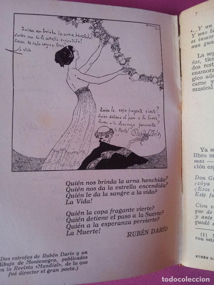 Libros antiguos: RUBEN DARIO - LA VIDA, LA OBRA Y NOTAS CRITICAS - COLECCION LOS GRANDES HOMBRES 1930 - Foto 3 - 125046419
