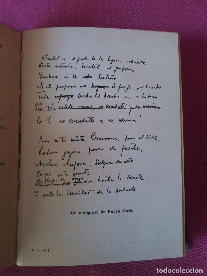 Libros antiguos: RUBEN DARIO - LA VIDA, LA OBRA Y NOTAS CRITICAS - COLECCION LOS GRANDES HOMBRES 1930 - Foto 4 - 125046419