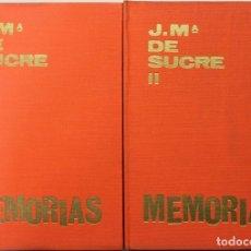 Libros antiguos: MEMORIAS I: DEL ROMANTICISMO AL MODERNISMO. MEMORIAS II: LOS PRIMEROS PASOS DEL 1900. - SUCRE, JOSE. Lote 123250720