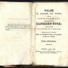 Libros antiguos: LIBRO ORIGINAL PRIMER VIAJE CAPITAN COOK VOL 3.1832-1833 IMPRENTA TOMÁS JORDAN MADRID. NUEVA ZELANDA. Lote 126693391