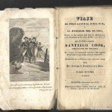 Libros antiguos: LIBRO SEGUNDO VIAJE CAPITAN COOK VOL 7 1832-1833 IMPRENTA TOMÁS JORDAN MADRID. CANÍBALES. Lote 126880219