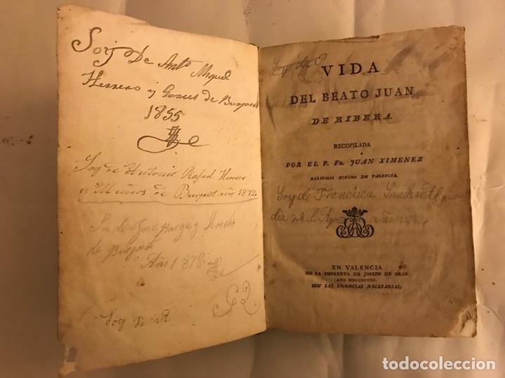 Libros antiguos: Vida del Beato Juan de Ribera. Valencia año 1798 - Foto 3 - 127881979