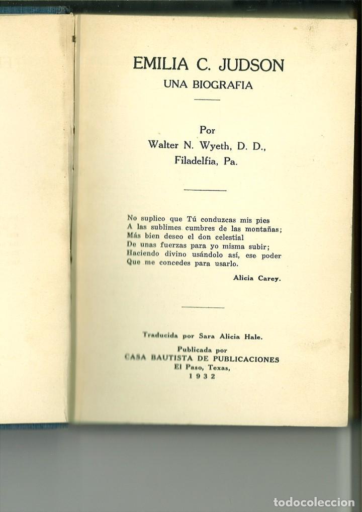 EMILIA C. JUDSON. UNA BIOGRAFÍA. WALTER N. WYETH D. D. (Libros Antiguos, Raros y Curiosos - Biografías )
