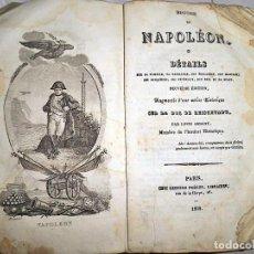Libros antiguos: AÑO 1838: TEMPRANA BIOGRAFÍA DE NAPOLEÓN.. Lote 133607274