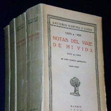 Libros antiguos: NOTAS DEL VIAJE DE MI VIDA. 1850-1920. (4 TOMOS). Lote 134719662