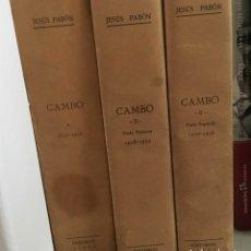Libros antiguos: ABON, JESÚS -CAMBÓ 3 VOL. COMPLETO BARCELONA 1949.. Lote 136184338
