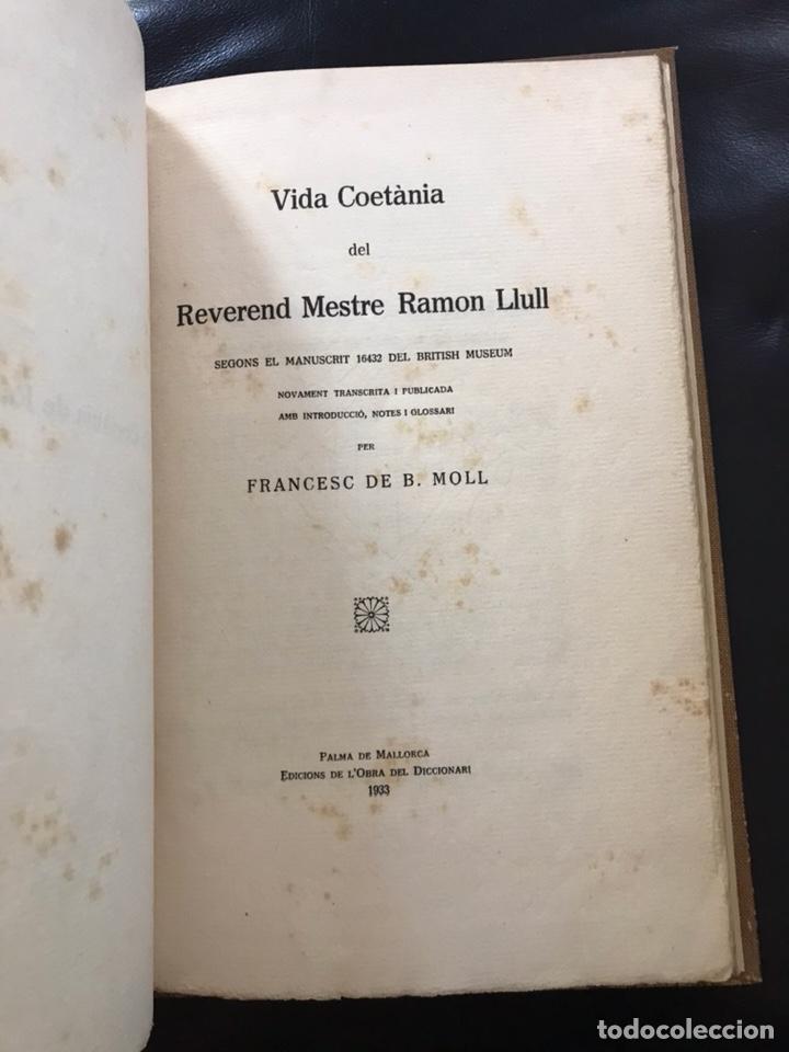VIDA COETÀNIA DEL REVEREND MESTRE RAMON LLULL.1933.IMPRESIONANTE EJEMPLAR (Libros Antiguos, Raros y Curiosos - Biografías )