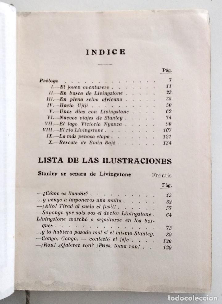 Libros antiguos: ENRIQUE STANLEY, VIAJES Y AVENTURAS... - P. CELSO GARCÍA - EDITORIAL ARALUCE AÑO 1940 - Foto 5 - 136506770