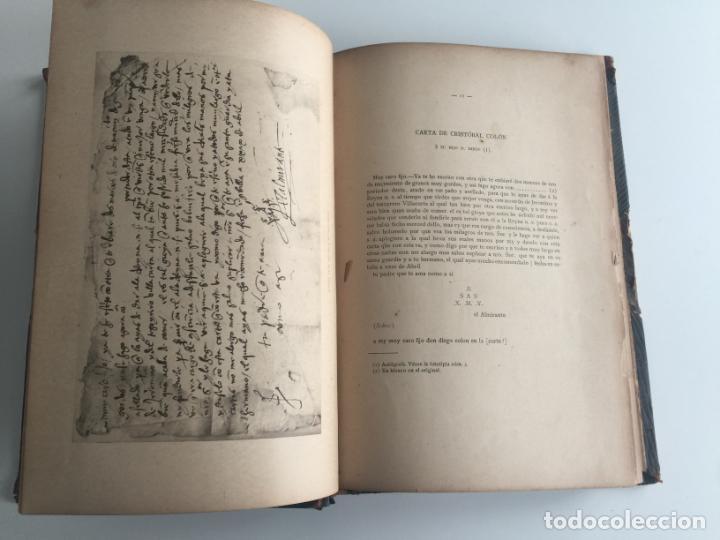 Libros antiguos: NUEVOS AUTOGRAFOS DE CRISTOBAL COLON - RELACIONES DE ULTRAMAR - 1902 MADRID - Foto 3 - 137331482