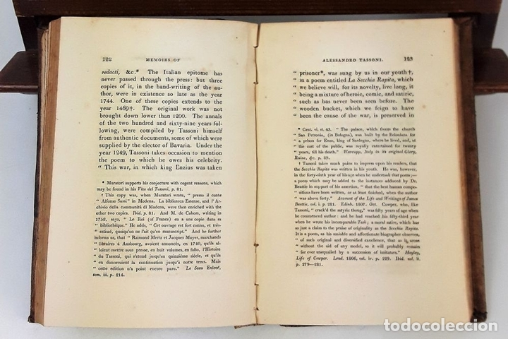 Libros antiguos: MEMOIRS OF ALESSANDRO TASSONI. PRINTED LONGMAN, HURST, REES, ORME, AND BROWN. LONDON. 1825 - Foto 2 - 137980282