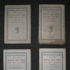 Libros antiguos: ESPINA Y CAPO, ANTONIO (MÉDICO) : NOTAS DEL VIAJE DE MI VIDA. 1850 A 1920 (4 TOMOS, COMPLETO).. Lote 140412590