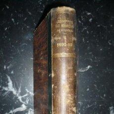 Libros antiguos: MEMOIRES DU MARQUIS DE SOURCHES SUR LE REGNE DE LOUIS XIV 1885 PARIS .EX-LIBRIS A.CANOVAS DEL CASTIL. Lote 146085442