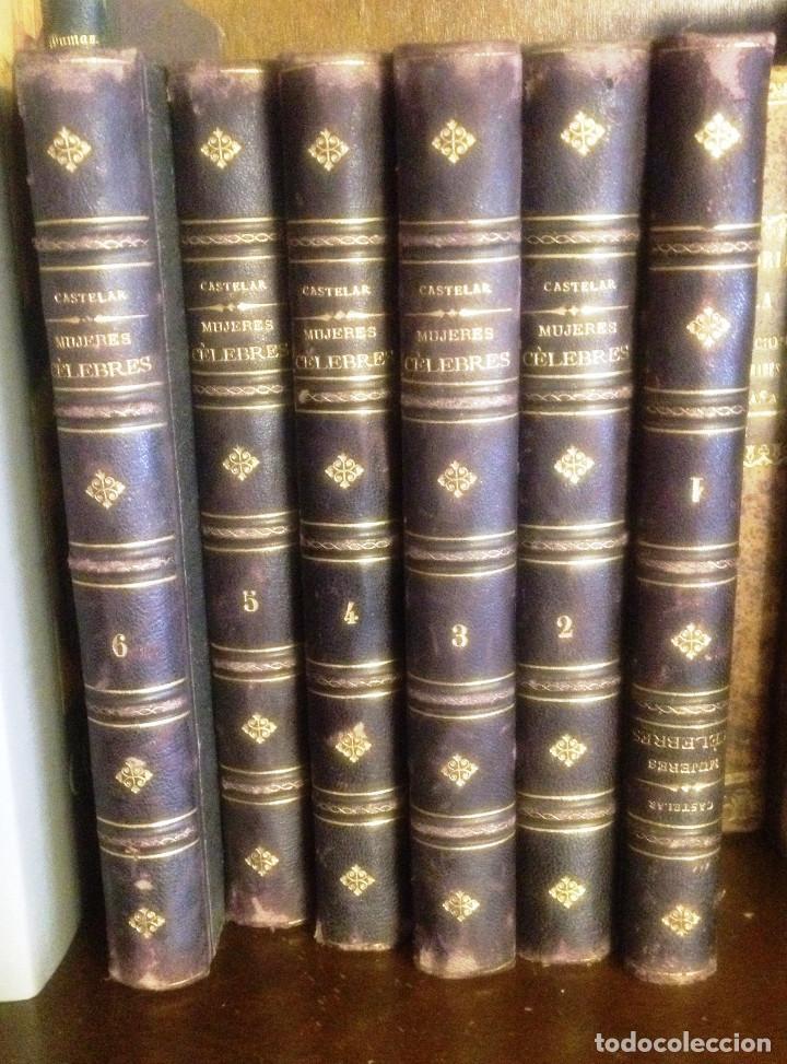 GALERIA HISTORICA DE MUJERES CÉLEBRES- EMILIO CASTELAR- 1886- FIRMA AUTOGRAFA DE CASTELAR- (Libros Antiguos, Raros y Curiosos - Biografías )