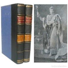 Libros antiguos: 1930 - EMIL LUDWIG: NAPOLEÓN - MONUMENTAL BIOGRAFÍA ILUSTRADA CON LÁMINAS - COMPLETA EN 2 TOMOS. Lote 146618018