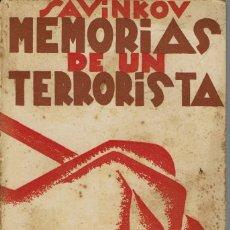 Libros antiguos: MEMORIAS DE UN TERRORISTA, DE SAVINKOV. AÑO 1931. (9.2). Lote 53448336