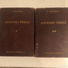 Libros antiguos: MARAÑÓN GREGORIO. ANTONIO PÉREZ. 2 VOLS. ESPASA CALPE ARGENTINA S.A 1947. Lote 151350862