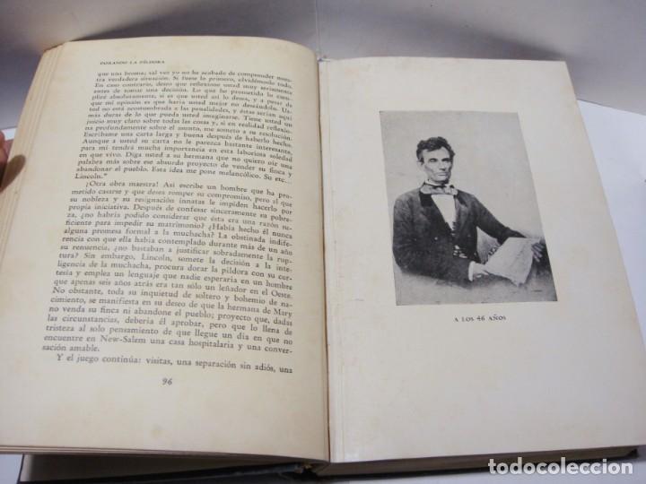 Libros antiguos: LINCOLN. EMIL LUDWIG. PRIMERA EDICIÓN ESPAÑOLA. ENERO 1931. EDITORIAL JUVENTUD. - Foto 4 - 152747754