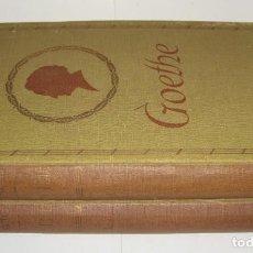 Libros antiguos: GOETHE, HISTORIA DE UN HOMBRE, EMILD LUDWIG (ED. JUVENTUD PRIMERA EDICIO 1932). Lote 153061906