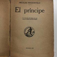 Libros antiguos: NICOLÁS MAQUIAVELO. EL PRÍNCIPE. 1936. Lote 155835594