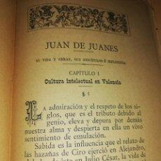 Libros antiguos: BIOGRAFÍA DE JUAN DE JUANES. POR FRANCISCO DE P. VILANOVA Y PIZCUETA. VALENCIA 1884. MUY RARO . Lote 160738438