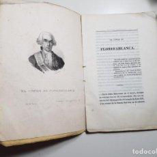 Libros antiguos: PERSONAJES CÉLEBRES DEL S. XIX POR UNO QUE NO LO ES - CONDE DE FLORIDABLANCA TOMO I 1842. Lote 161154654