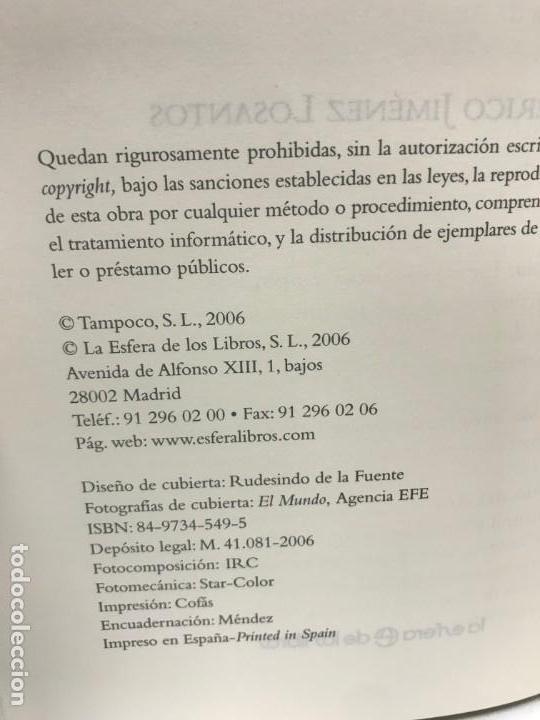 Libros antiguos: LIBRO DE LA NOCHE A LA MAÑANA FEDERICO JIMÉNEZ LOSANTOS - Foto 2 - 163068890