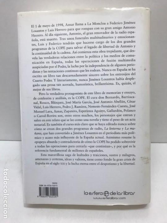 Libros antiguos: LIBRO DE LA NOCHE A LA MAÑANA FEDERICO JIMÉNEZ LOSANTOS - Foto 3 - 163068890