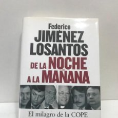 Livros antigos: LIBRO DE LA NOCHE A LA MAÑANA FEDERICO JIMÉNEZ LOSANTOS. Lote 163068890