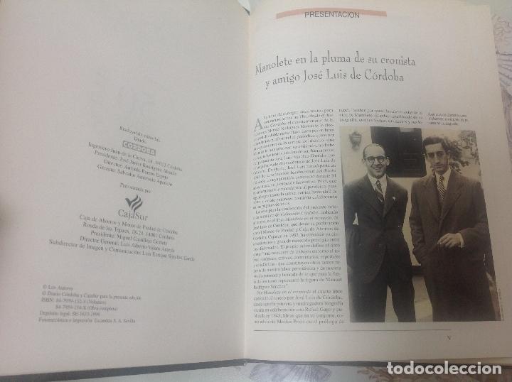 Libros antiguos: Manolete - Foto 3 - 167012264