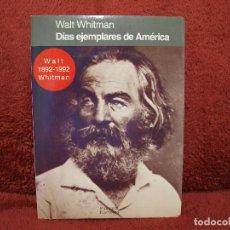 Libros antiguos: DÍAS EJEMPLARES DE AMÉRICA WALT WHITMAN PARSIFAL EDICIONES. Lote 167209376