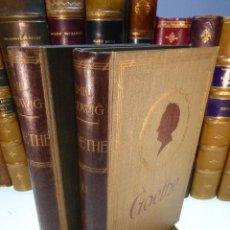 Libros antiguos: GOETHE. HISTORIA DE UN HOMBRE POR EMIL LUDWIG. 2 VOLÚMENES. EDITORIAL JUVENTUD. BARCELONA. 1932.. Lote 167624916