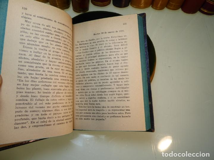 Libros antiguos: Conversaciones con Goethe en los últimos años de su vida. Juan Pedro Eckermann. 3 tomos. 1920. - Foto 6 - 168133644