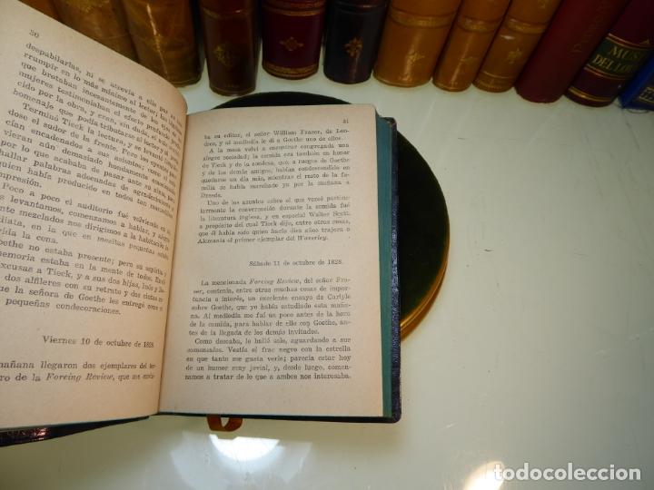 Libros antiguos: Conversaciones con Goethe en los últimos años de su vida. Juan Pedro Eckermann. 3 tomos. 1920. - Foto 11 - 168133644