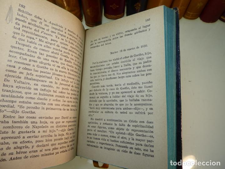 Libros antiguos: Conversaciones con Goethe en los últimos años de su vida. Juan Pedro Eckermann. 3 tomos. 1920. - Foto 12 - 168133644