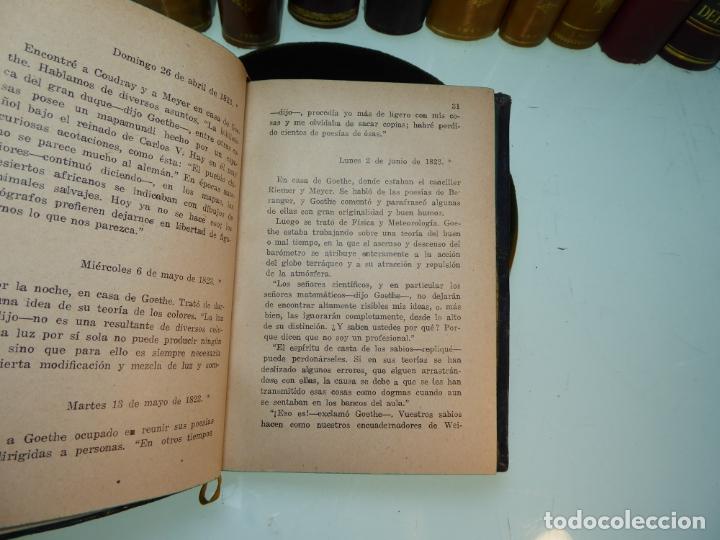 Libros antiguos: Conversaciones con Goethe en los últimos años de su vida. Juan Pedro Eckermann. 3 tomos. 1920. - Foto 17 - 168133644