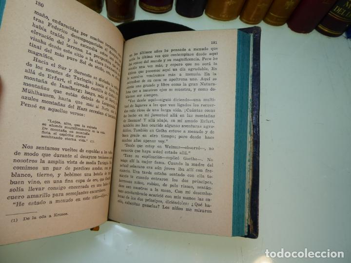 Libros antiguos: Conversaciones con Goethe en los últimos años de su vida. Juan Pedro Eckermann. 3 tomos. 1920. - Foto 18 - 168133644
