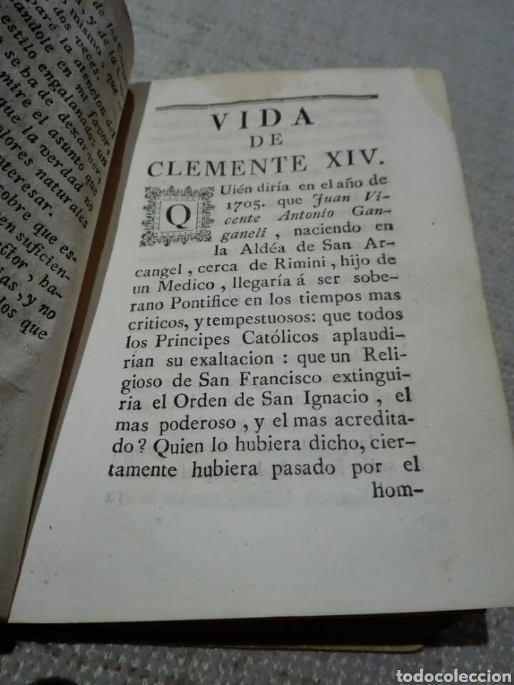 Libros antiguos: Pergamino S. XVIII. CARACCIOLO (Marqués). 1777. Vida de el Papa Clemente XIV (Ganganelli.) - Foto 5 - 168237933