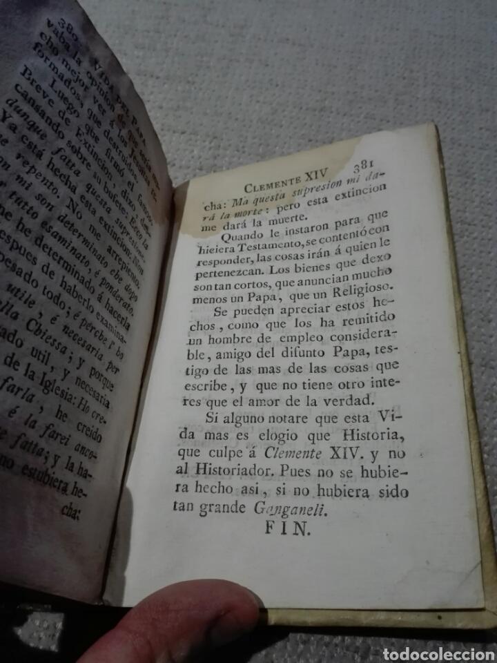 Libros antiguos: Pergamino S. XVIII. CARACCIOLO (Marqués). 1777. Vida de el Papa Clemente XIV (Ganganelli.) - Foto 6 - 168237933