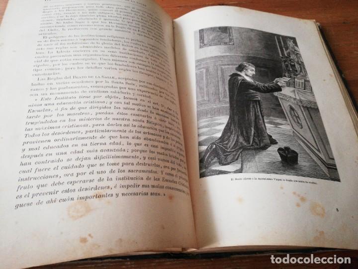 Libros antiguos: Vida del beato J. B. De la Salle. París. 1840. - Foto 6 - 168673128