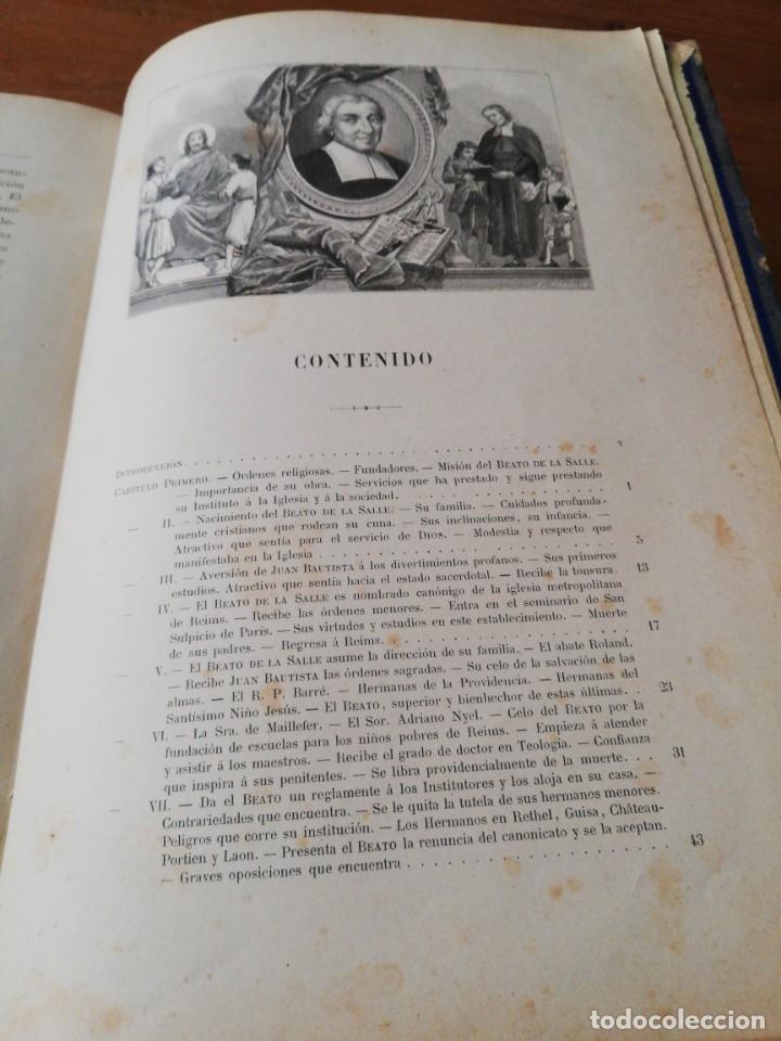 Libros antiguos: Vida del beato J. B. De la Salle. París. 1840. - Foto 8 - 168673128