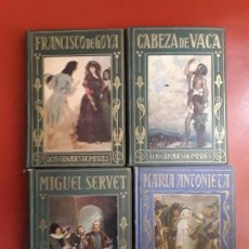 Libros antiguos: EDITORIAL ARALUCE 4 TÍTULOS - MARIA ANTONIETA - MIGUEL SERVET - GOYA - CABEZA DE VACA.. Lote 169890128