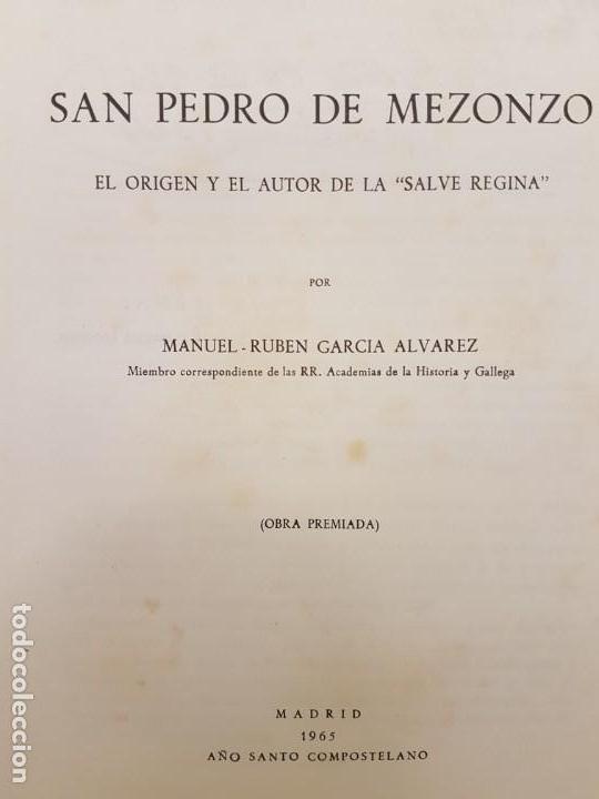 SAN PEDRO DE MEZONZO, (GARCIA ALVAREZ), MADRID 1965 (Libros Antiguos, Raros y Curiosos - Biografías )