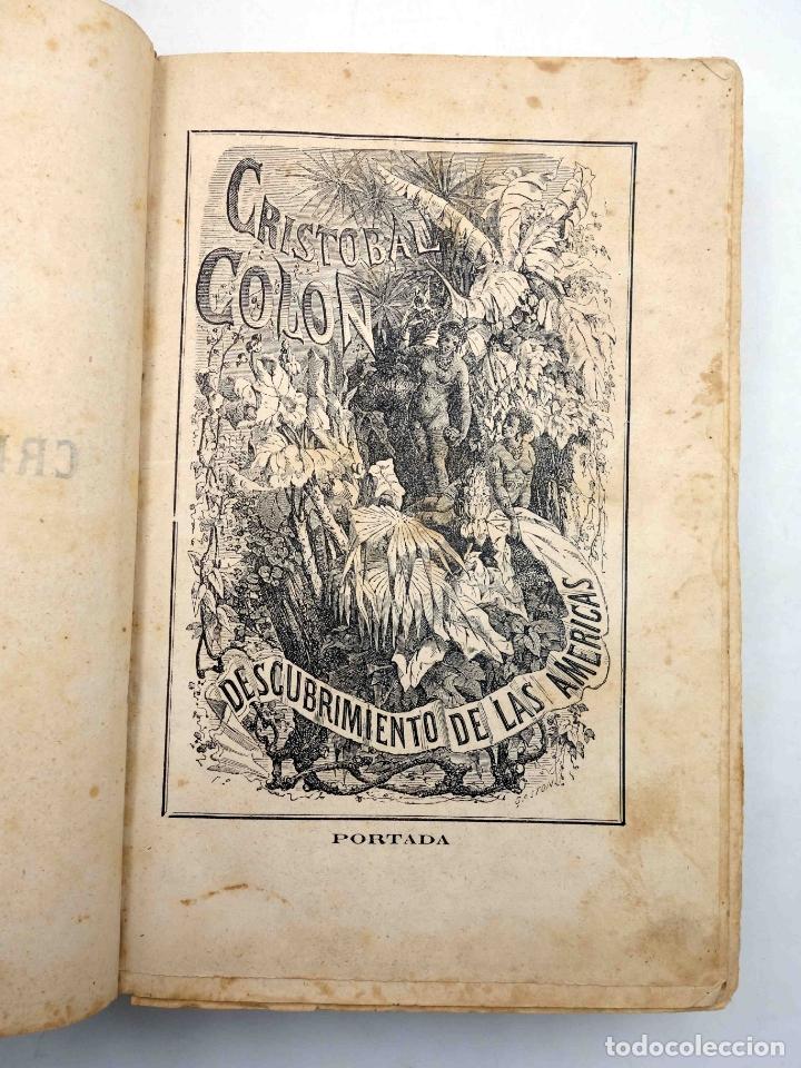 Libros antiguos: CRISTOBAL COLÓN. DESCUBRIMIENTO DE LAS AMÉRICAS TOMO 1 (M. Alfonso De Lamartine) Urbano Manini, 1870 - Foto 4 - 171857597