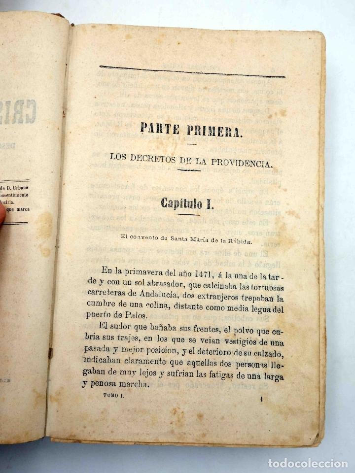 Libros antiguos: CRISTOBAL COLÓN. DESCUBRIMIENTO DE LAS AMÉRICAS TOMO 1 (M. Alfonso De Lamartine) Urbano Manini, 1870 - Foto 6 - 171857597