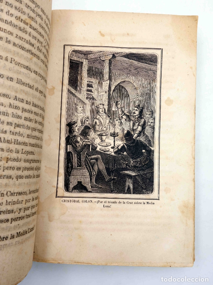 Libros antiguos: CRISTOBAL COLÓN. DESCUBRIMIENTO DE LAS AMÉRICAS TOMO 1 (M. Alfonso De Lamartine) Urbano Manini, 1870 - Foto 7 - 171857597