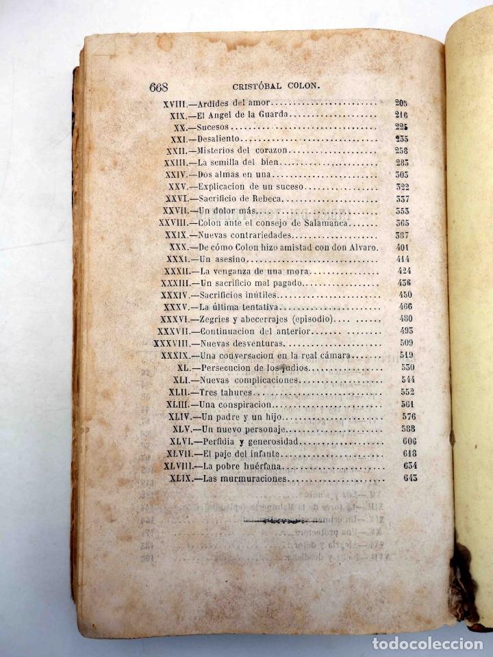 Libros antiguos: CRISTOBAL COLÓN. DESCUBRIMIENTO DE LAS AMÉRICAS TOMO 1 (M. Alfonso De Lamartine) Urbano Manini, 1870 - Foto 9 - 171857597
