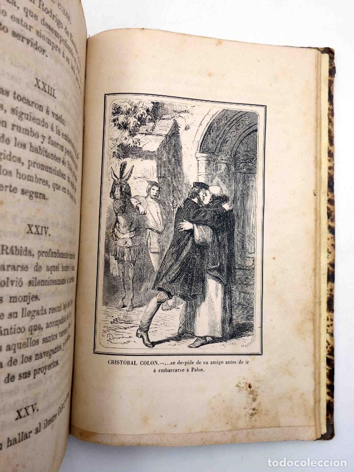 Libros antiguos: CRISTOBAL COLÓN. DESCUBRIMIENTO DE LAS AMÉRICAS TOMO 1 (M. Alfonso De Lamartine) Urbano Manini, 1870 - Foto 11 - 171857597