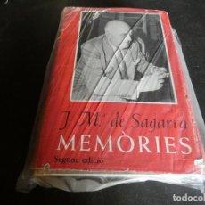 Libros antiguos: JM DE SAGARRA MEMORIES, GRUESO LIBRO EN CATALAN MUY BUEN ESTADO SEGUNDA EDICION. Lote 172003020