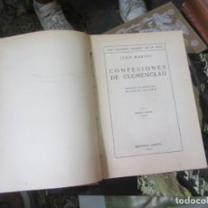Libros antiguos: CONFESIONES DE CLEMENCEAU, 1930. L 4364-451. Lote 173210580